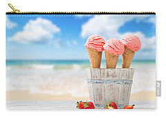 Strawberry Ice Creams Carry-all Pouch by Amanda Elwell
