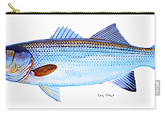 Striped Bass Carry-all Pouch by Carey Chen