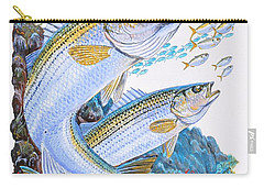 Striped Bass Rocks Carry-all Pouch by Carey Chen