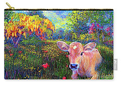 Such A Contented Cow Carry-all Pouch by Jane Small