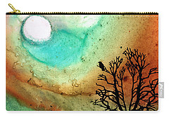 Summer Moon - Landscape Art By Sharon Cummings Carry-all Pouch by Sharon Cummings