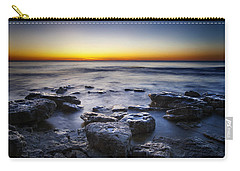 Sunrise At Cave Point Carry-all Pouch by Scott Norris