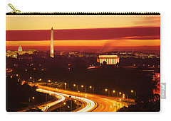 Sunset, Aerial, Washington Dc, District Carry-all Pouch by Panoramic Images