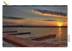 Sunset Docks On Lake Oconee Carry-all Pouch by Reid Callaway