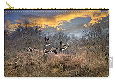 Sunset Geese Carry-all Pouch by Christina Rollo