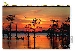 Sunset On The Bayou Carry-all Pouch by Carey Chen