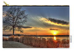 Sunset Sawgrass On Lake Oconee Carry-all Pouch by Reid Callaway