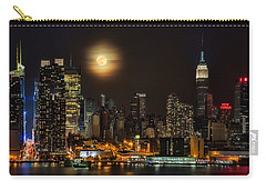Super Moon Over Nyc Carry-all Pouch by Susan Candelario
