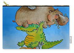 Super Mouse Pen & Ink And Wc On Paper Carry-all Pouch by Maylee Christie