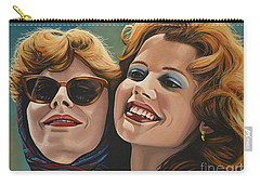 Susan Sarandon And Geena Davies Alias Thelma And Louise Carry-all Pouch by Paul Meijering