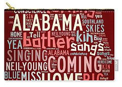 Sweet Home Alabama 4 Carry-all Pouch by Paulette B Wright