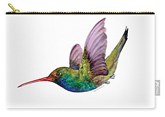 Swooping Broad Billed Hummingbird Carry-all Pouch by Amy Kirkpatrick