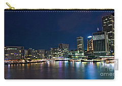 Sydney Cityscape By Night Carry-all Pouch by Kaye Menner