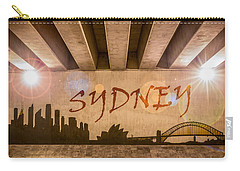Sydney Graffiti Skyline Carry-all Pouch by Semmick Photo