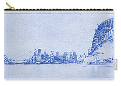 Sydney Skyline Blueprint Carry-all Pouch by Kaleidoscopik Photography