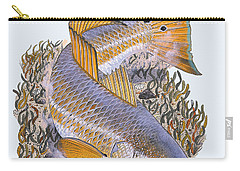 Tailing Redfish Carry-all Pouch by Carey Chen