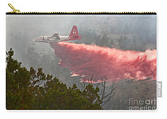 Carry-all Pouch featuring the photograph Tanker 07 On Whoopup Fire by Bill Gabbert