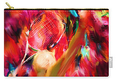 Tennis I Carry-all Pouch by Lourry Legarde