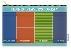 Tennis Player-s Dream Carry-all Pouch by Carlos Vieira