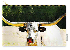Texas Longhorn - Bull Cow Carry-all Pouch by Sharon Cummings