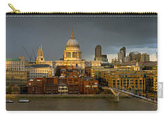 Thames With St Paul's Panorama Carry-all Pouch by Gary Eason