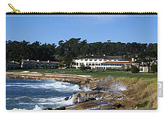 The 18th At Pebble Beach Carry-all Pouch by Barbara Snyder