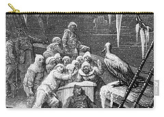 The Albatross Being Fed By The Sailors On The The Ship Marooned In The Frozen Seas Of Antartica Carry-all Pouch by Gustave Dore