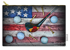 The All American Golfer Carry-all Pouch by Paul Ward