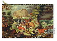 The Animals Entering The Ark Carry-all Pouch by Jacob II Savery