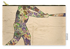 The Baseball Player Carry-all Pouch by Florian Rodarte
