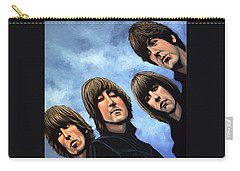The Beatles Rubber Soul Carry-all Pouch by Paul Meijering