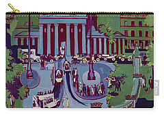 The Brandenburg Gate Berlin Carry-all Pouch by Ernst Ludwig Kirchner
