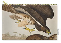 The Common Buzzard Carry-all Pouch by John James Audubon