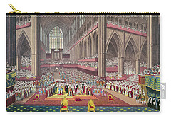 The Coronation Of King William Iv And Queen Adelaide, 1831 Colour Litho Carry-all Pouch by English School