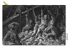 The Dead Sailors Rise Up And Start To Work The Ropes Of The Ship So That It Begins To Move Carry-all Pouch by Gustave Dore