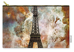 The Eiffel Tower - Paris France Art By Sharon Cummings Carry-all Pouch by Sharon Cummings
