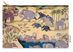 The Elephant Hunt Carry-all Pouch by Indian School
