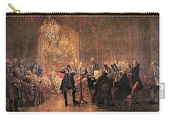 The Flute Concert Carry-all Pouch by Adolph Friedrich Erdmann von Menzel