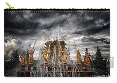 The Friendship Fountain Moscow Carry-all Pouch by Stelios Kleanthous