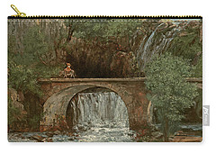 The Great Bridge, 1864 Carry-all Pouch by Gustave Courbet