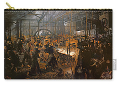 The Iron-rolling Mill Oil On Canvas, 1875 Carry-all Pouch by Adolph Friedrich Erdmann von Menzel