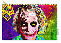 The Joker - Heath Ledger Carry-all Pouch by Daniel Janda