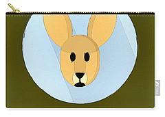 The Kangaroo Cute Portrait Carry-all Pouch by Florian Rodarte