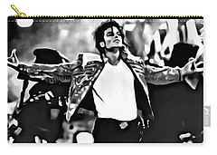 The King Of Pop Carry-all Pouch by Florian Rodarte