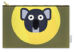 The Koala Cute Portrait Carry-all Pouch by Florian Rodarte