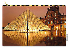 The Louvre By Night Carry-all Pouch by Ayse Deniz