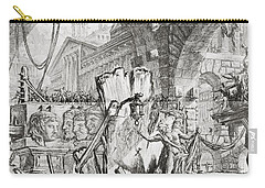 The Man On The Rack Plate II From Carceri D'invenzione Carry-all Pouch by Giovanni Battista Piranesi