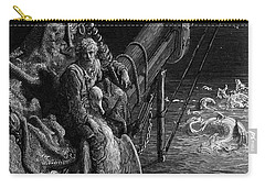 The Mariner Gazes On The Serpents In The Ocean Carry-all Pouch by Gustave Dore