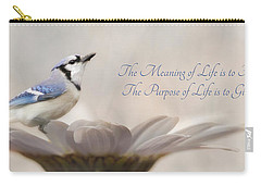 The Meaning Of Life Carry-all Pouch by Lori Deiter