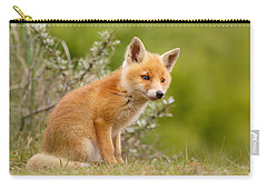 The New Kit ...curious Red Fox Cub Carry-all Pouch by Roeselien Raimond